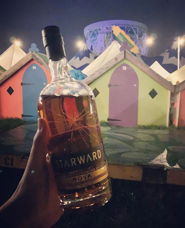 "Just leaving the wonderful @bluedotfestival ... this was the view from our ""tent"". The Lovell telescope in the background and my latest whisky (thanks to @acwarmington ) in the foreground along a suitable space theme! @starwardwhisky ! . . #whisky #singlemalt #singlemaltwhisky #bluedot #festival #australianwhisky #starward #starwardwhisky #lovell #lovelltelescope #bluedotfestival #whiskey #instadram #whiskyporn"