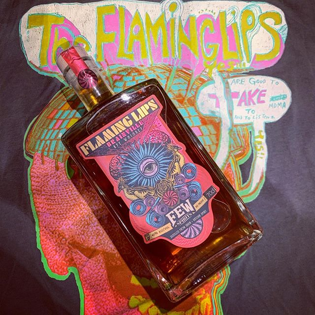 "After a trip to Manchester to see the incredible Flaming Lips' colourful and joyous live show... (up there with best live shows ever? Swipe for pics!) thought it was worth posting a pic of the only whiskey that truly fits our ""whisky & music"" mission statement, the flaming lips rye whiskey from @fewspirits - thanks to @bobafett2k6 for a sample, and @danisquell for getting me the full bottle for Christmas last year! 😀🥃 . . #flaminglips #theflaminglips #whiskey #ryewhiskey #rye #whisky #bourbon #few #fewspirits #instadram #whiskyporn #rainbow #unicorn #waynecoyne #manchesteracademy"