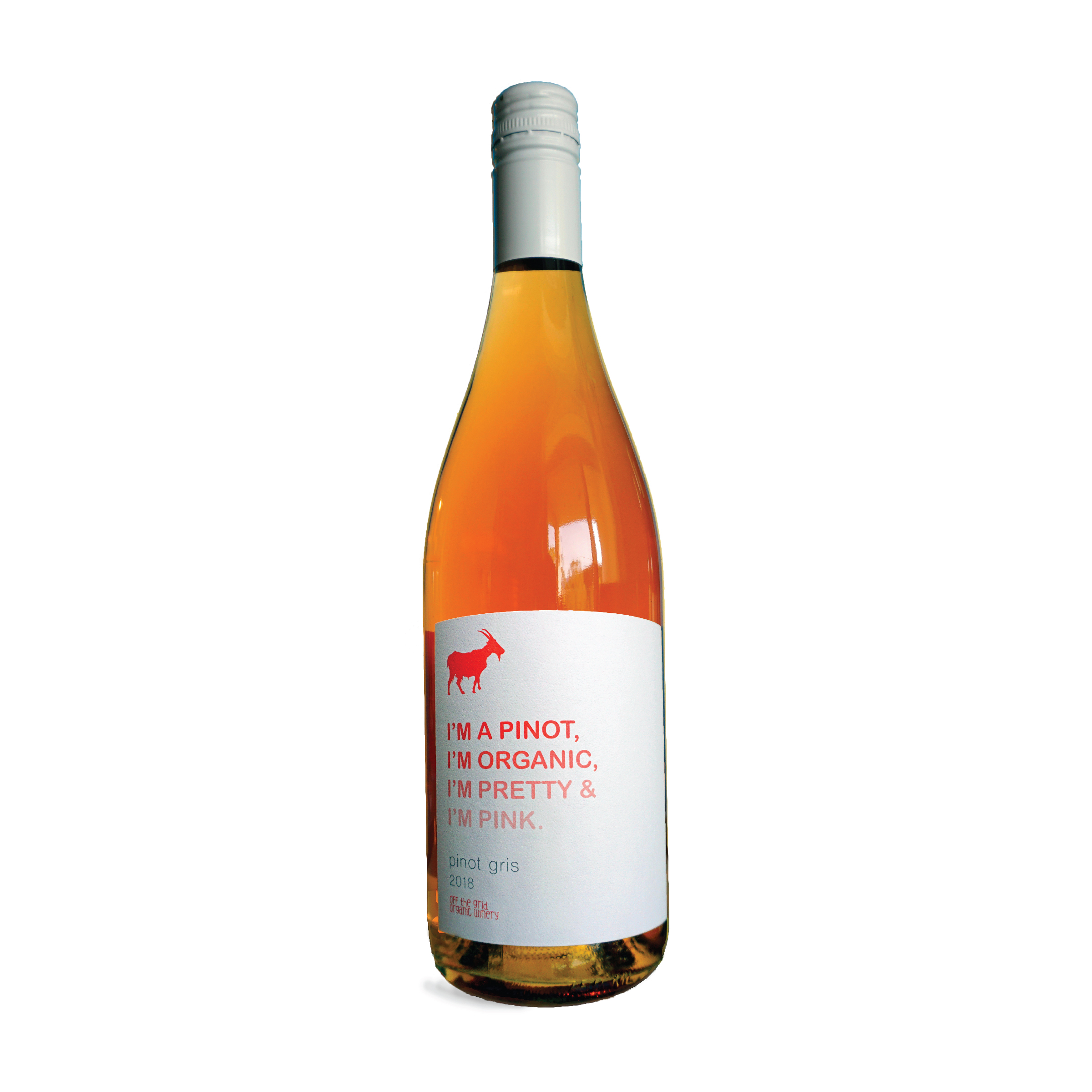 SOLD OUT2018 Pink Pinot Gris - $25.00These Pinot Gris grapes were cold soaked for 4 days, giving it its unique colour. Notes of melon, candied berries, sour patch kids, and almond round out this unique Pinot Gris. Pairs best with chick flicks and potato chips.