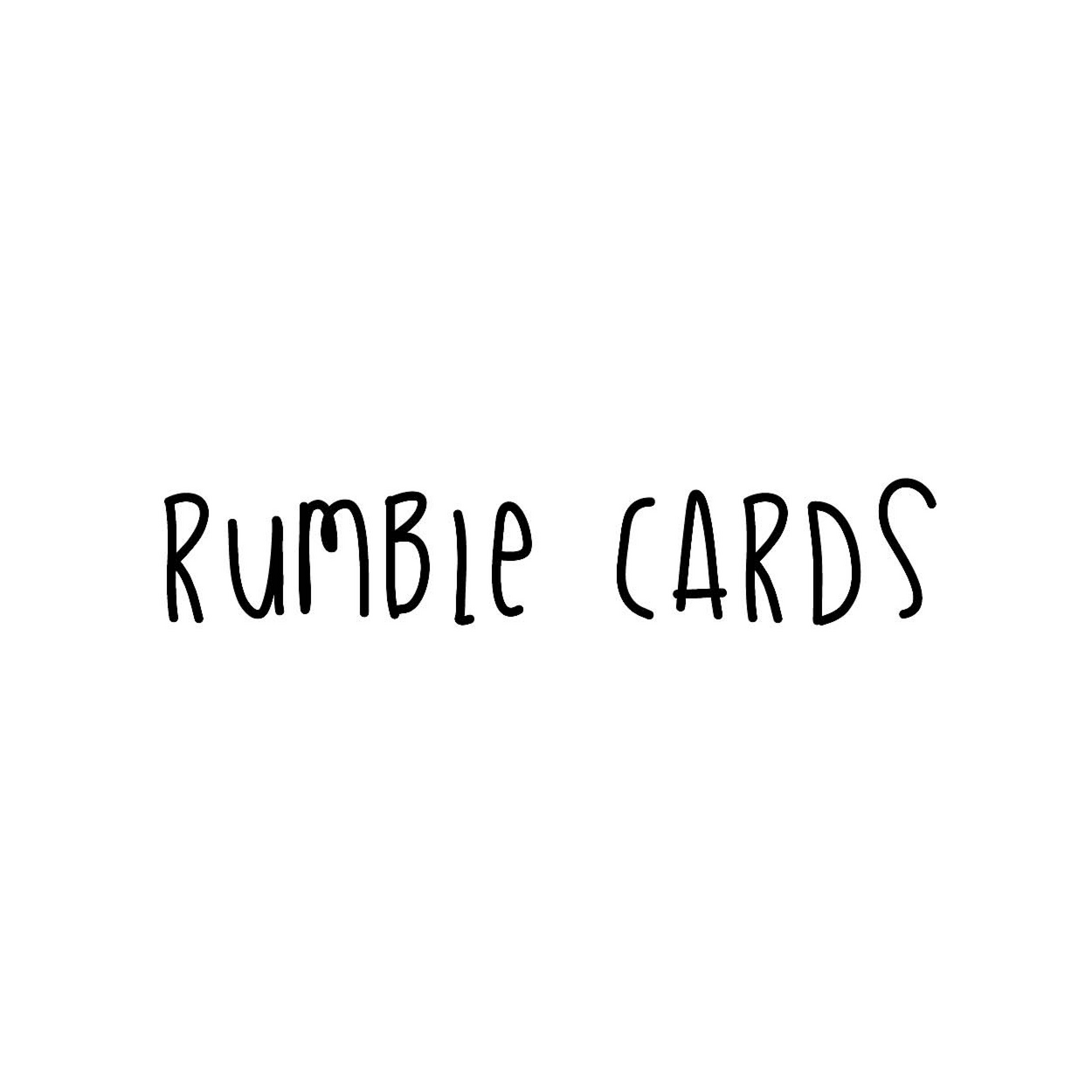 Rumble Cards stationery