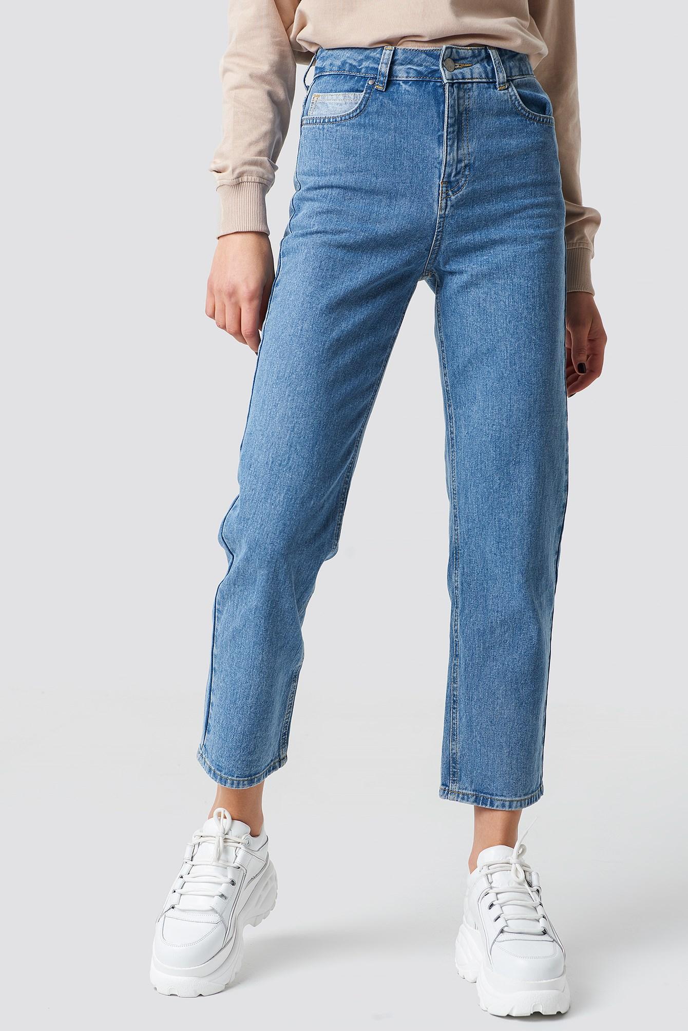 Straight Leg Blue Jeans ,  Astrid Olsen x NA-KD