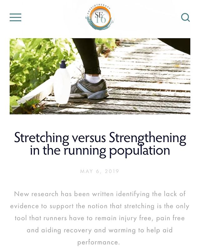 #blog#stretchingvsstrengthening#runners#physiotherapylondon#physio#Se16physio  Link: https://www.se16physio.co.uk/blog