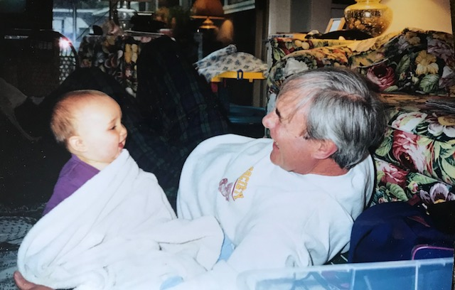 Love and laughter. dad and liam in 1998