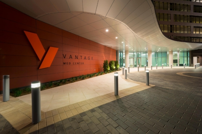 This is the main entrance to the Vantage building, where you'll find our Locale apartments.