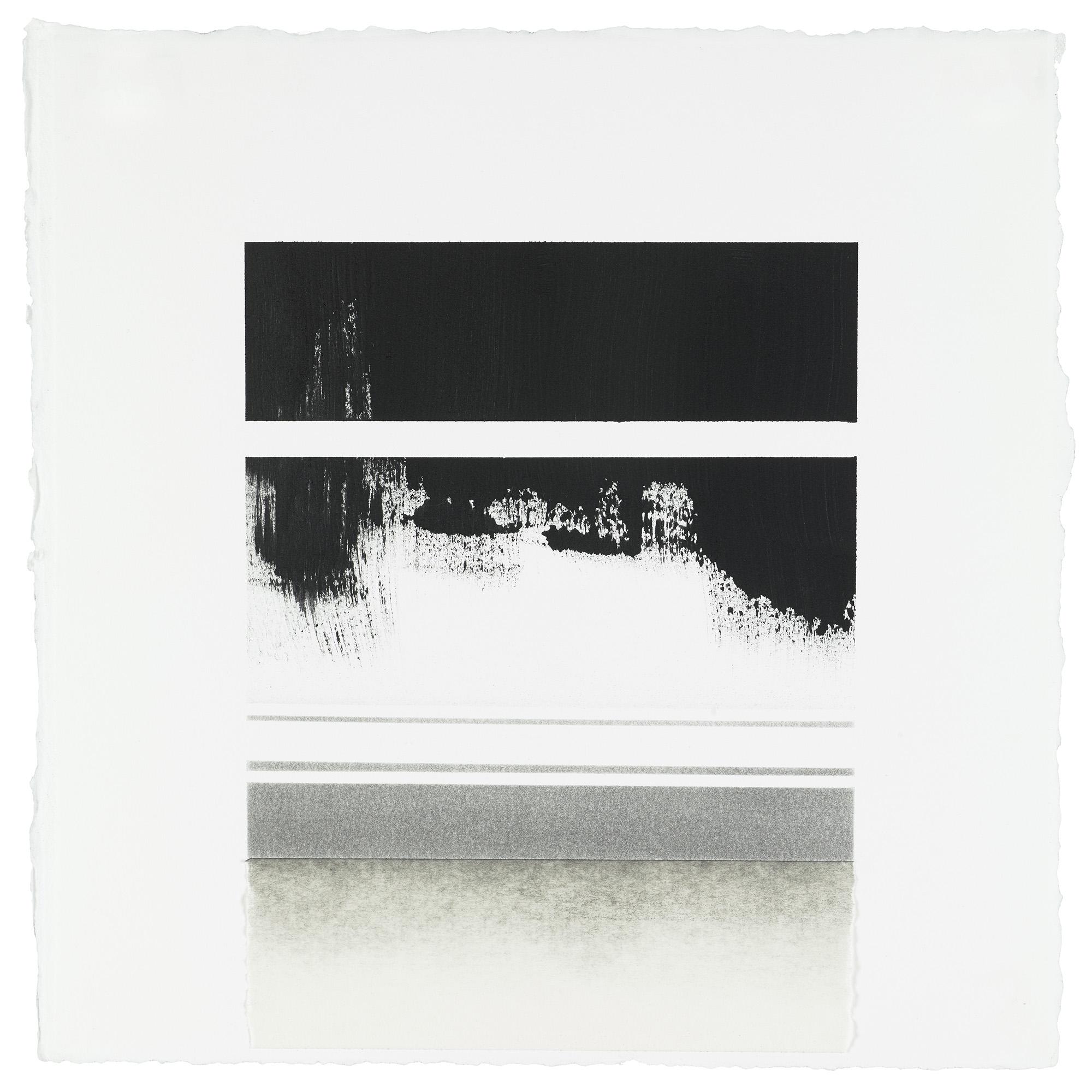 "ML66, peach pit soot, rabbit skin glue, graphite, 10.5""x10.5"", 2017"
