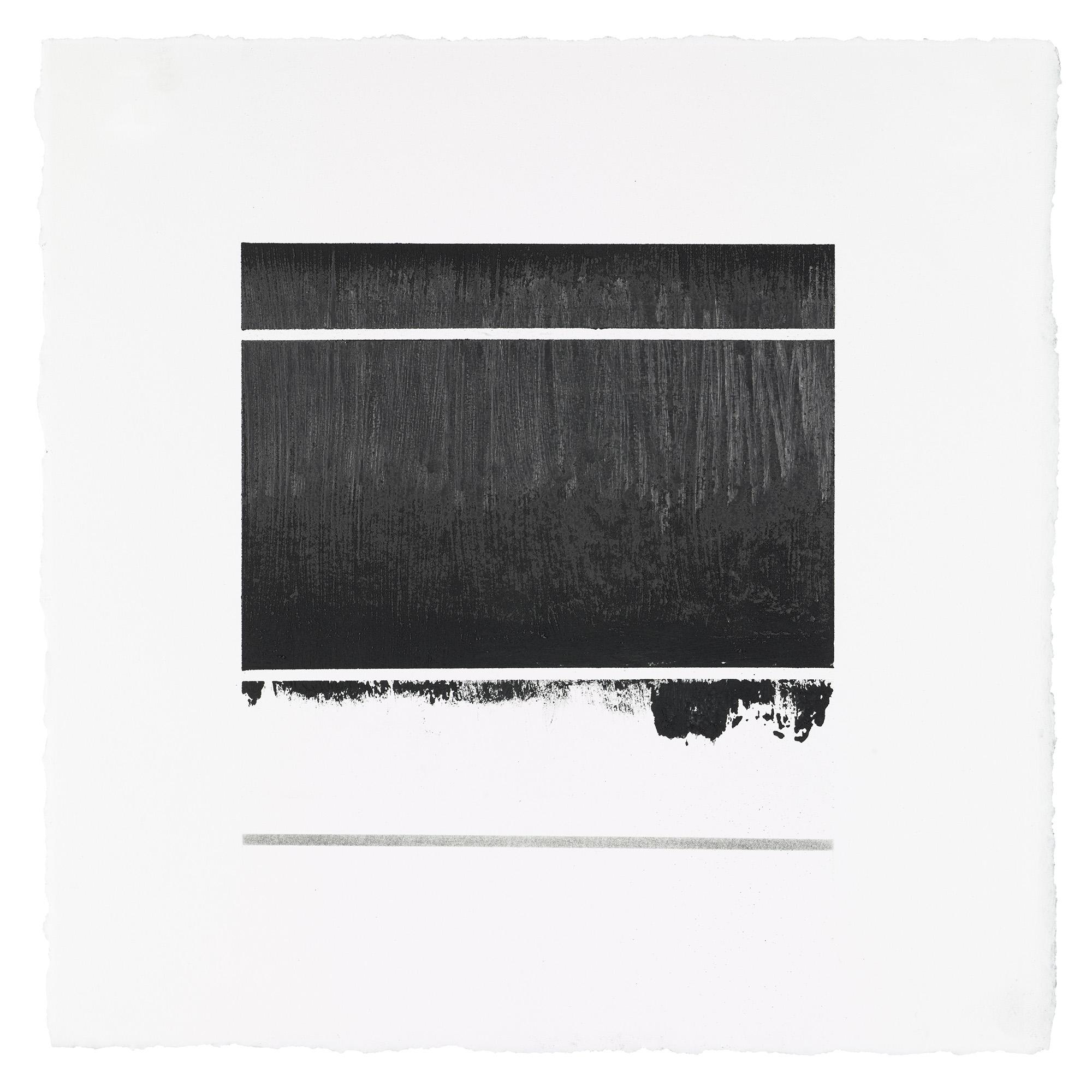 "ML67, peach pit soot, rabbit skin glue, graphite, 10.5""x10.5"", 2017"