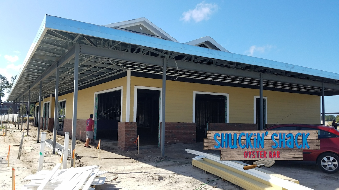 The new Shuckin' Shack Oyster Bar of Leland, NC will open for business early in 2018!