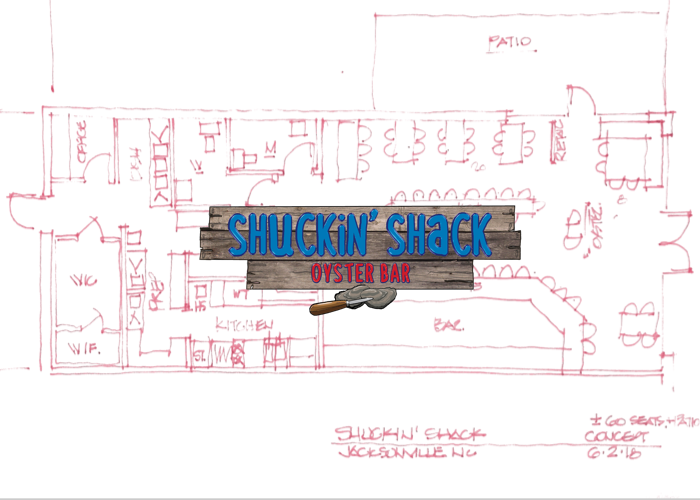 "A rough layout of ""The Shack"" coming to the Lowes Food Center in Jacksonville, NC later this year!"