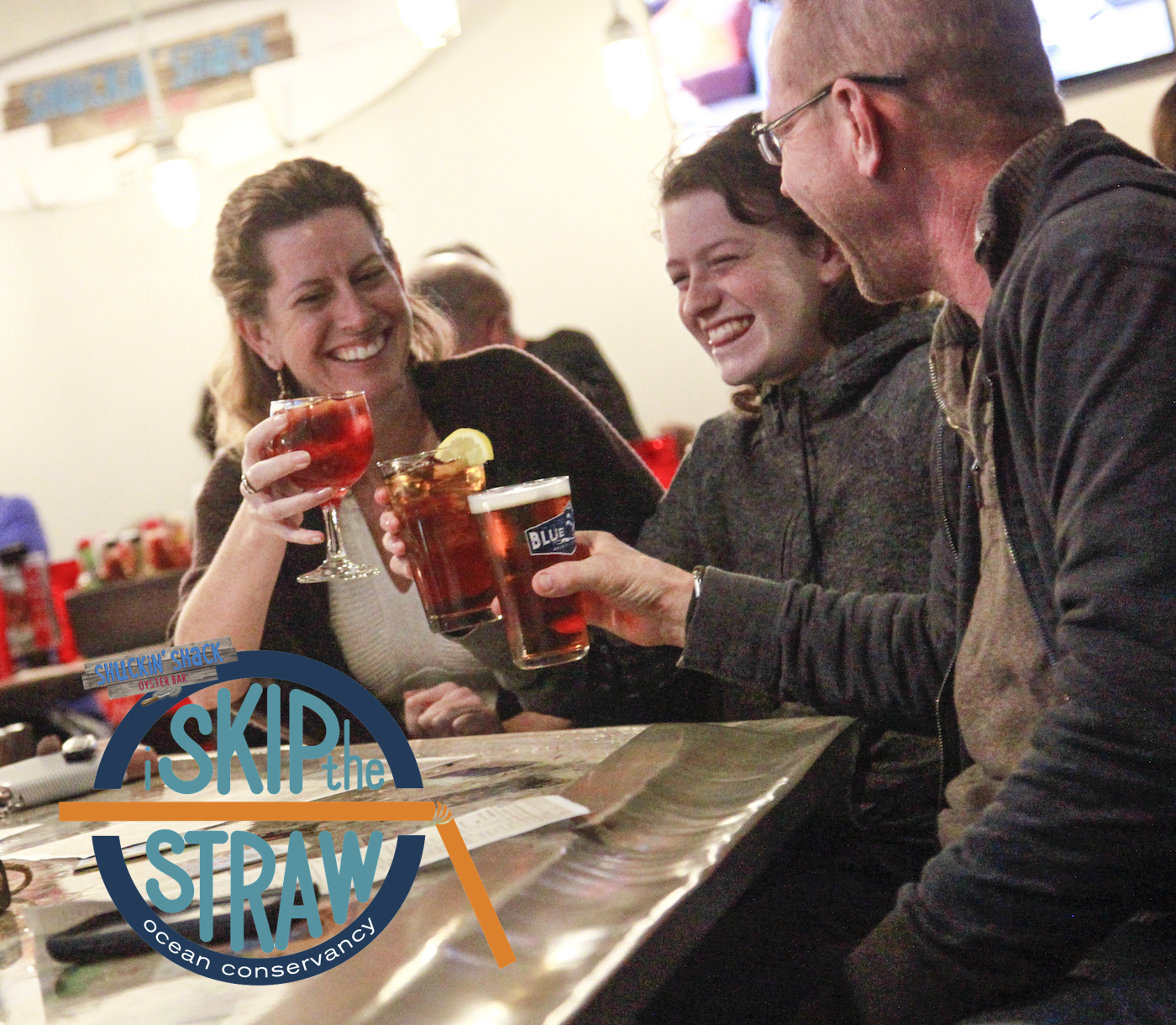 All twelve of our Shuckin' Shack Oyster Bars now participate with the Skip the Straw program and have prevented thousands of straws from being used and disposed of over the past year.