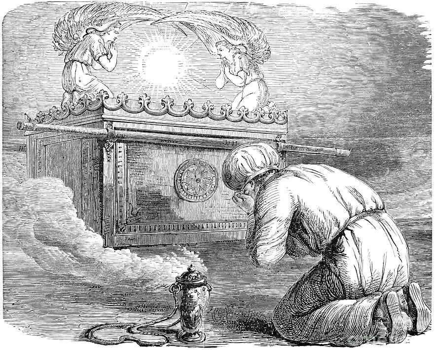 Figure 12 - Kohen praying before the Ark of the Covenant