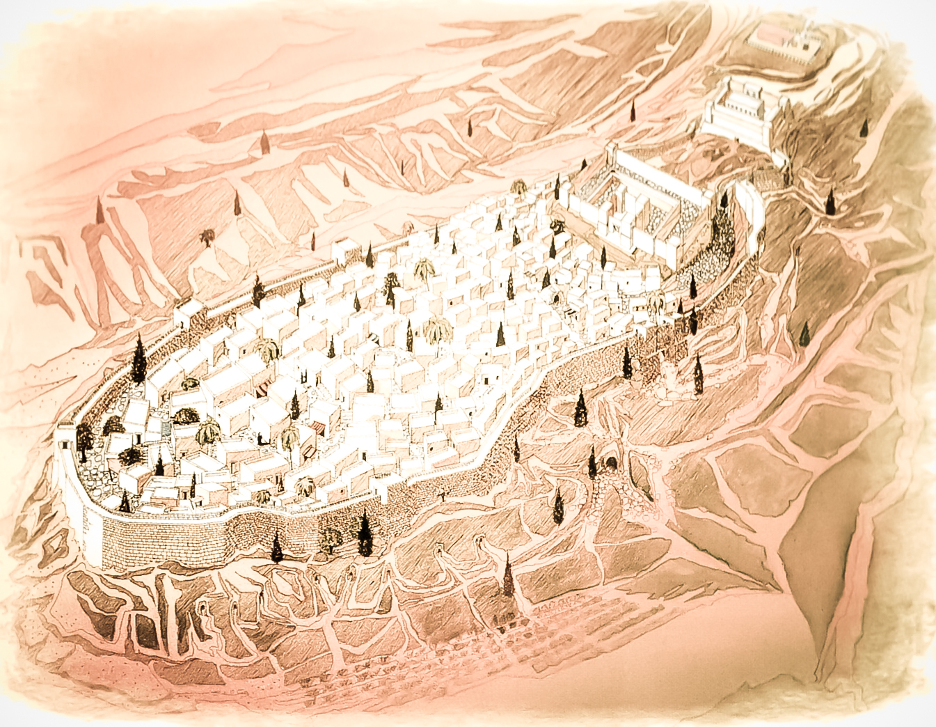 Figure 2 - City of David (Holman Bible Atlas)