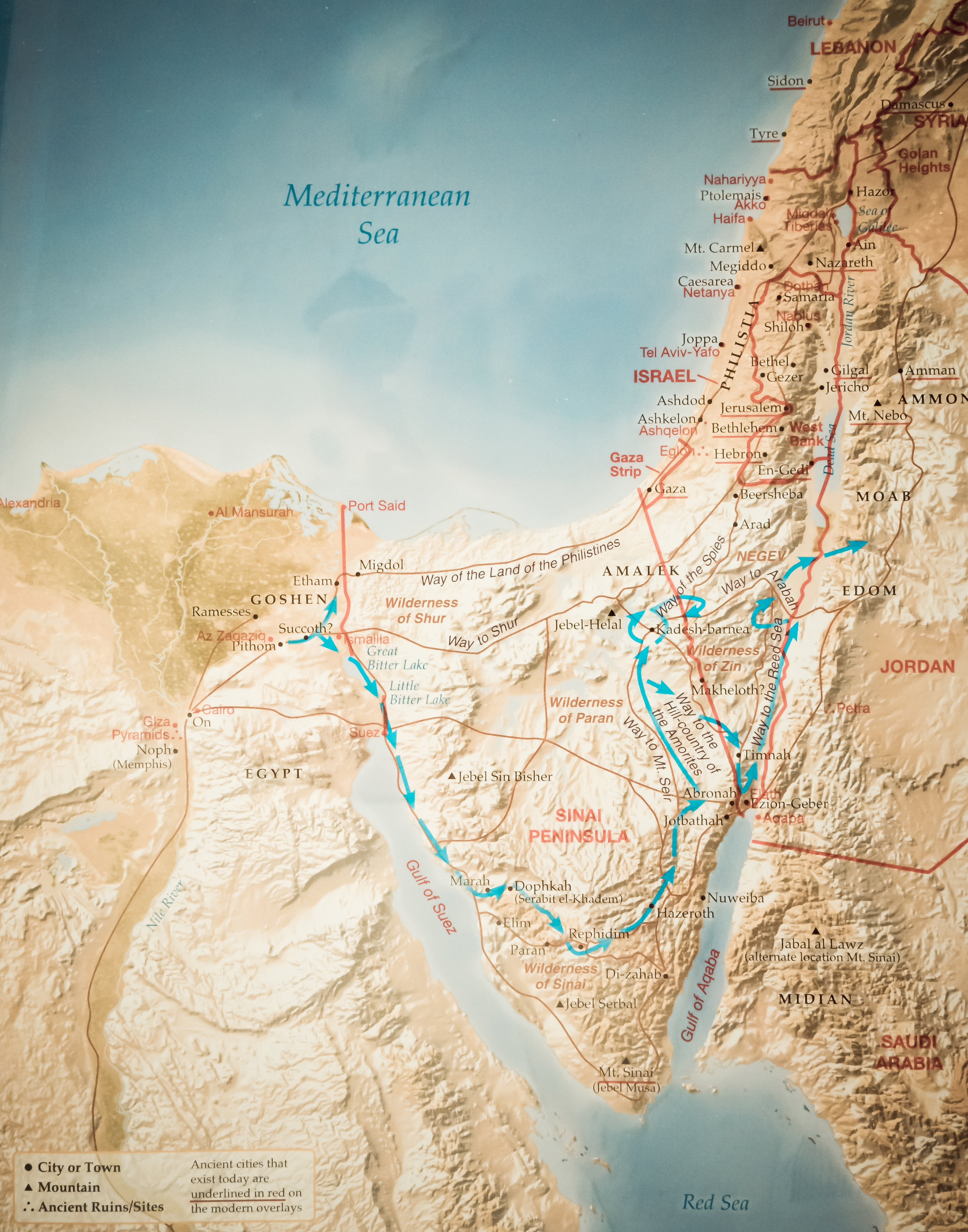 Figure 1 - Map of the Exodus (Rose Publishing)