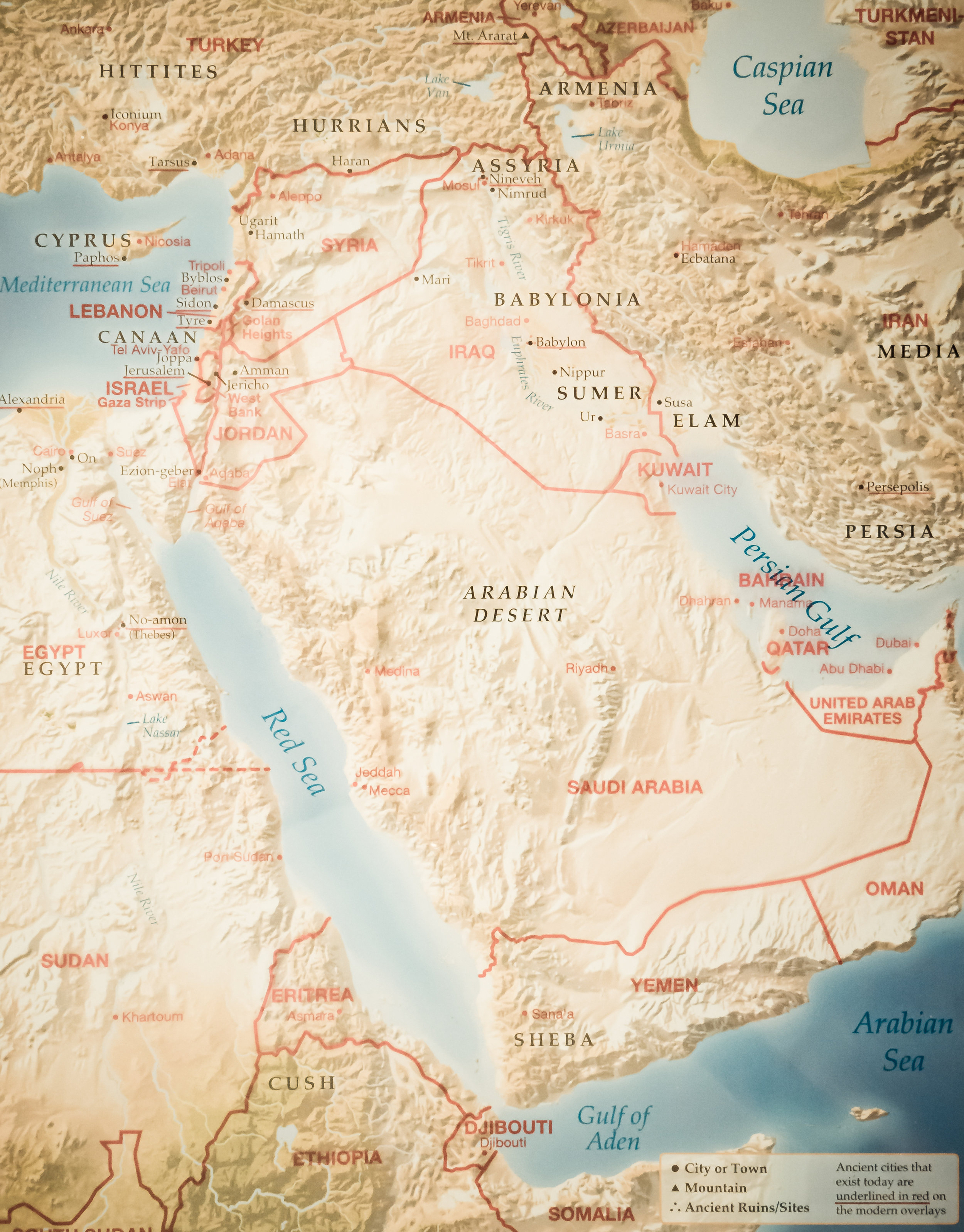 Figure 2 - Map of the Middle East (Rose Publishing)