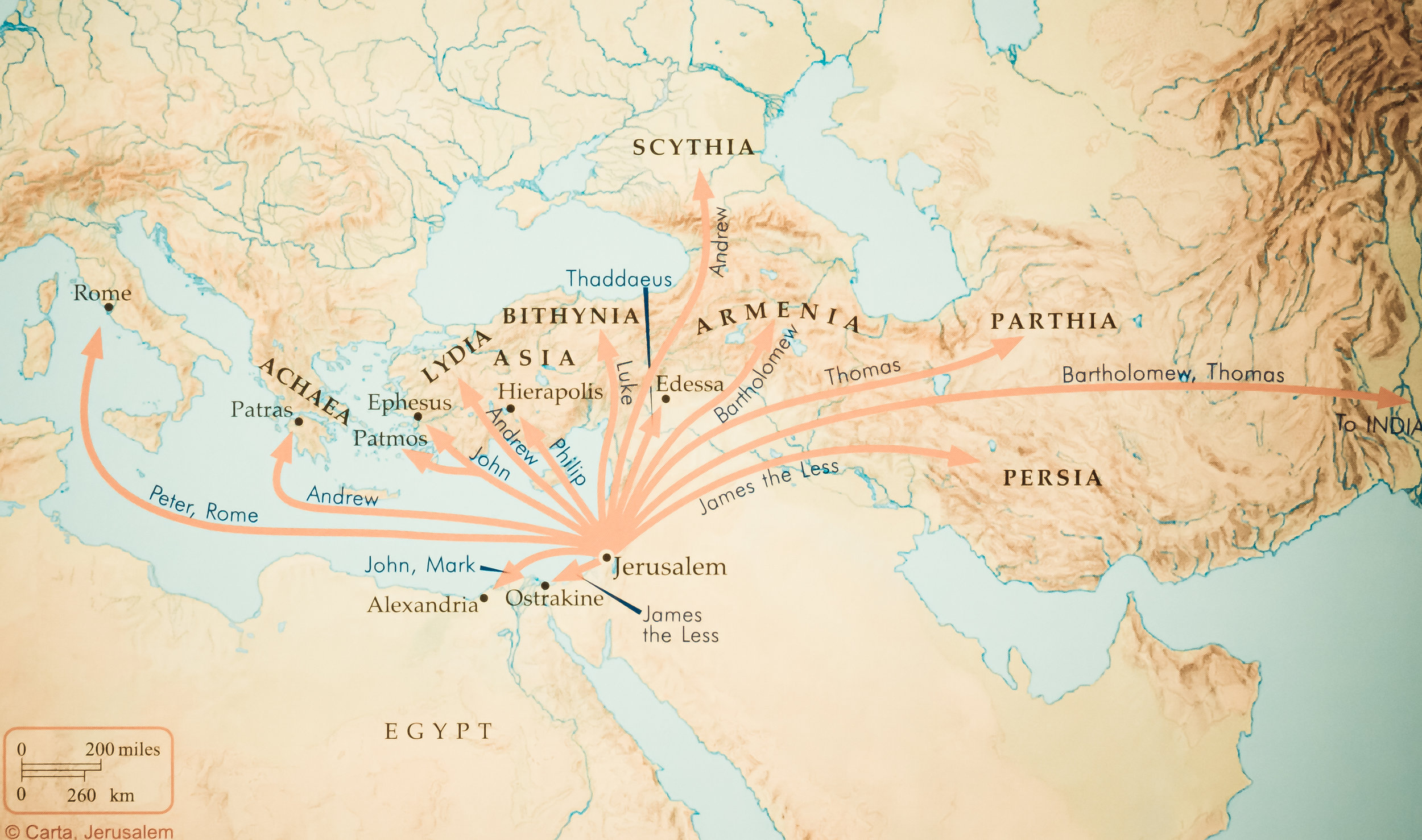 Figure 3 - The Spread of Christianity from Jerusalem (Rose Publishing)