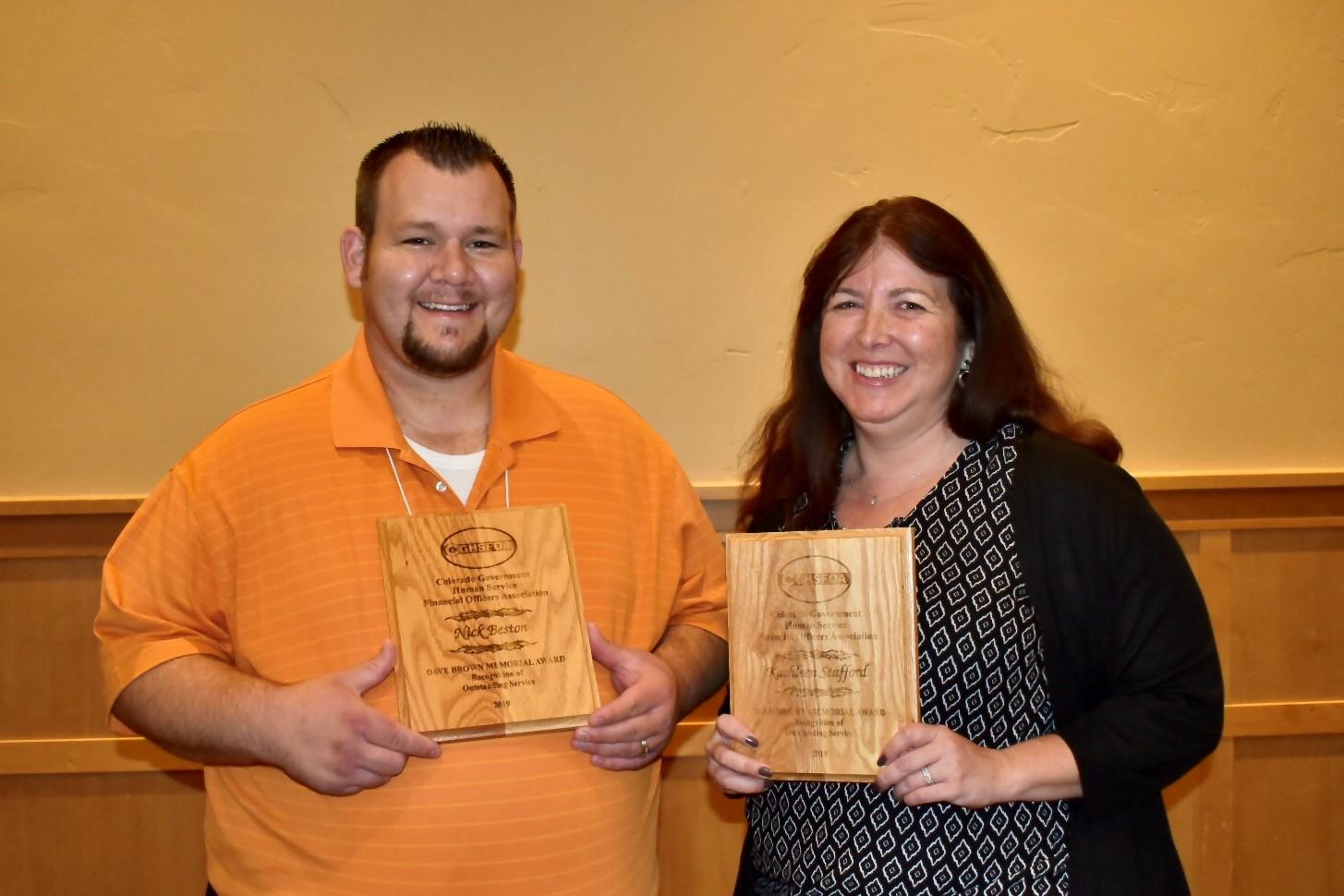 Nick Beston (Adams County) and Kathleen Stafford (Arapahoe County)