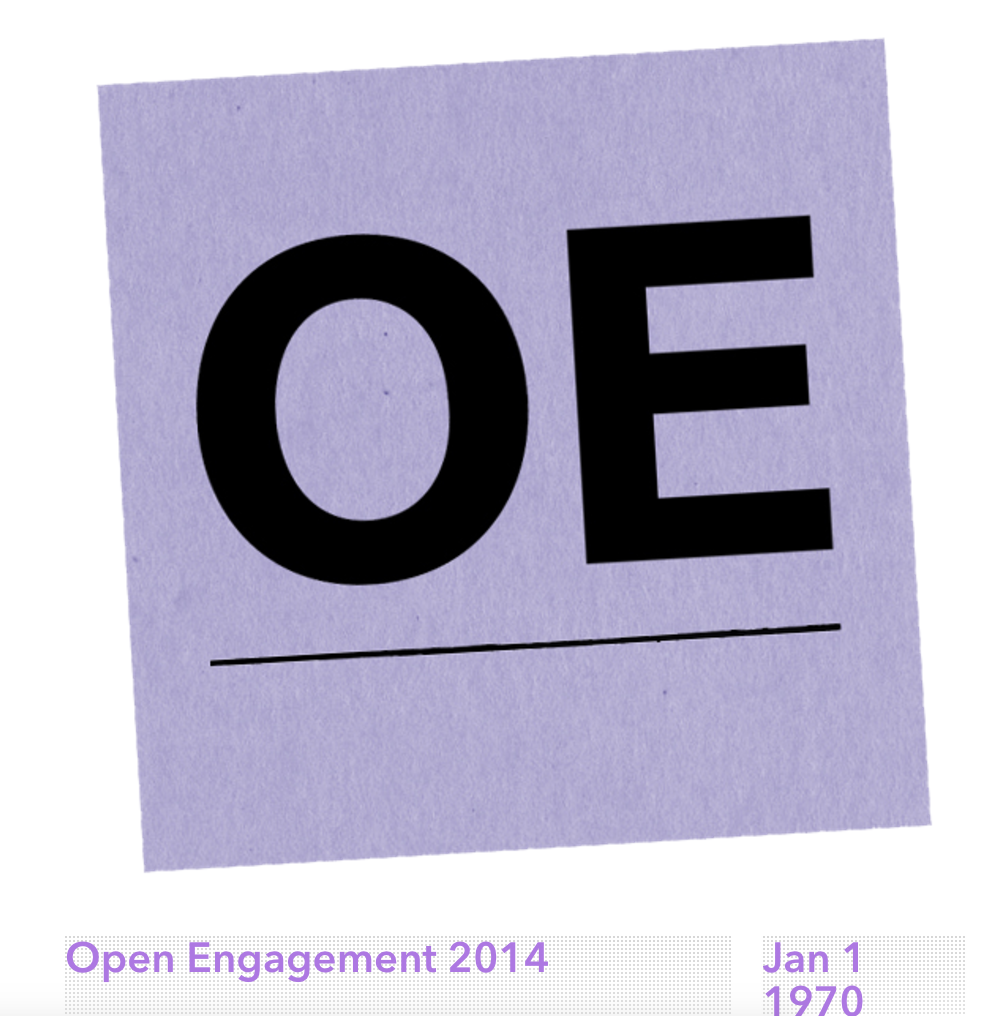 Talk 'The Architecture of Social Space' at Open Engagement 2014 at the Queens Museum - Talk: May 18th at 1:00 pm -- Matthew Mazzotta will present a talk called 'The Architecture of Social Space' at Open Engagement 2014 at the newly renovated .