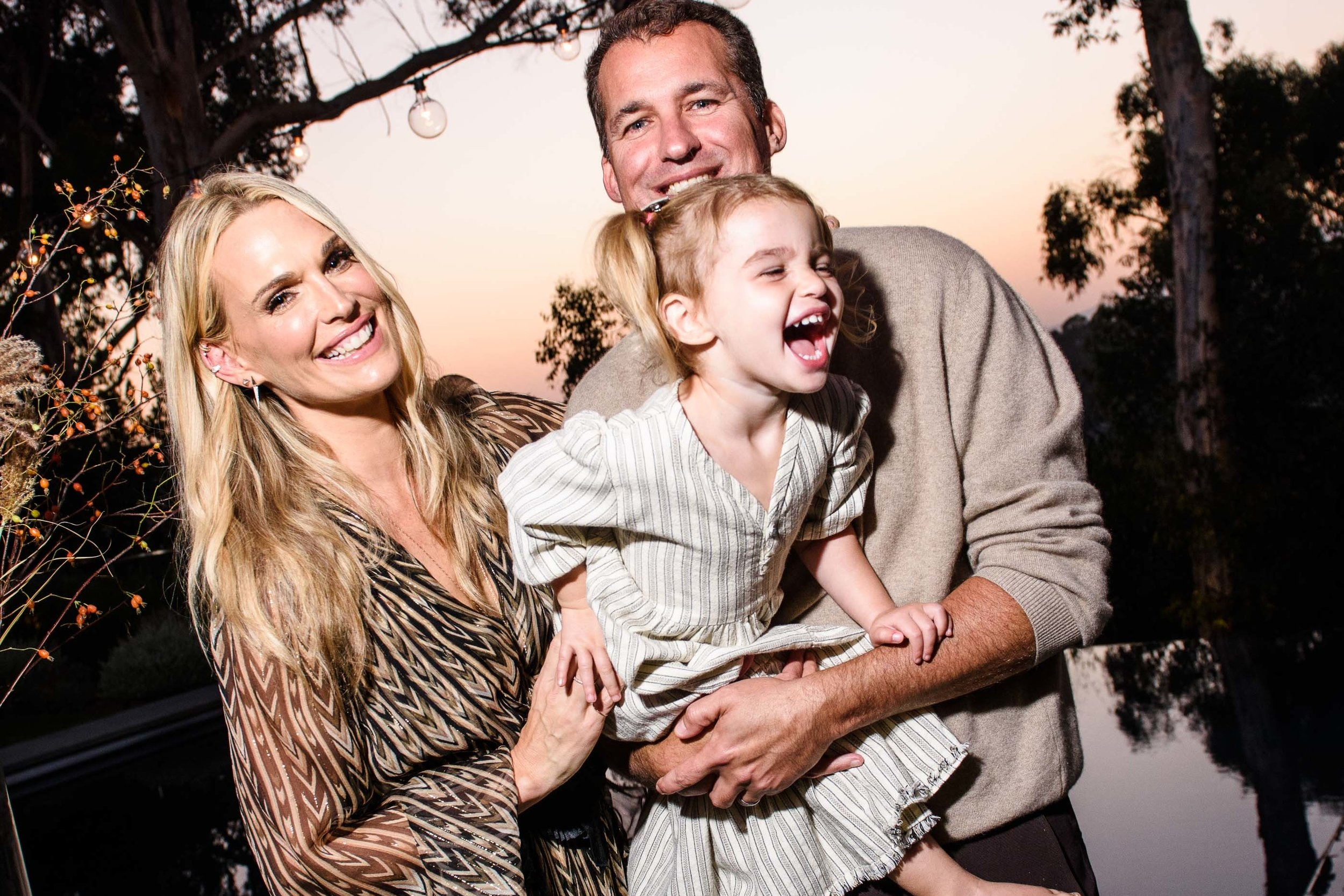 Molly Sims, Scott Stuber and their daughter Scarlett at the Everyday Chic Book Launch, photography by Hannah Thomson