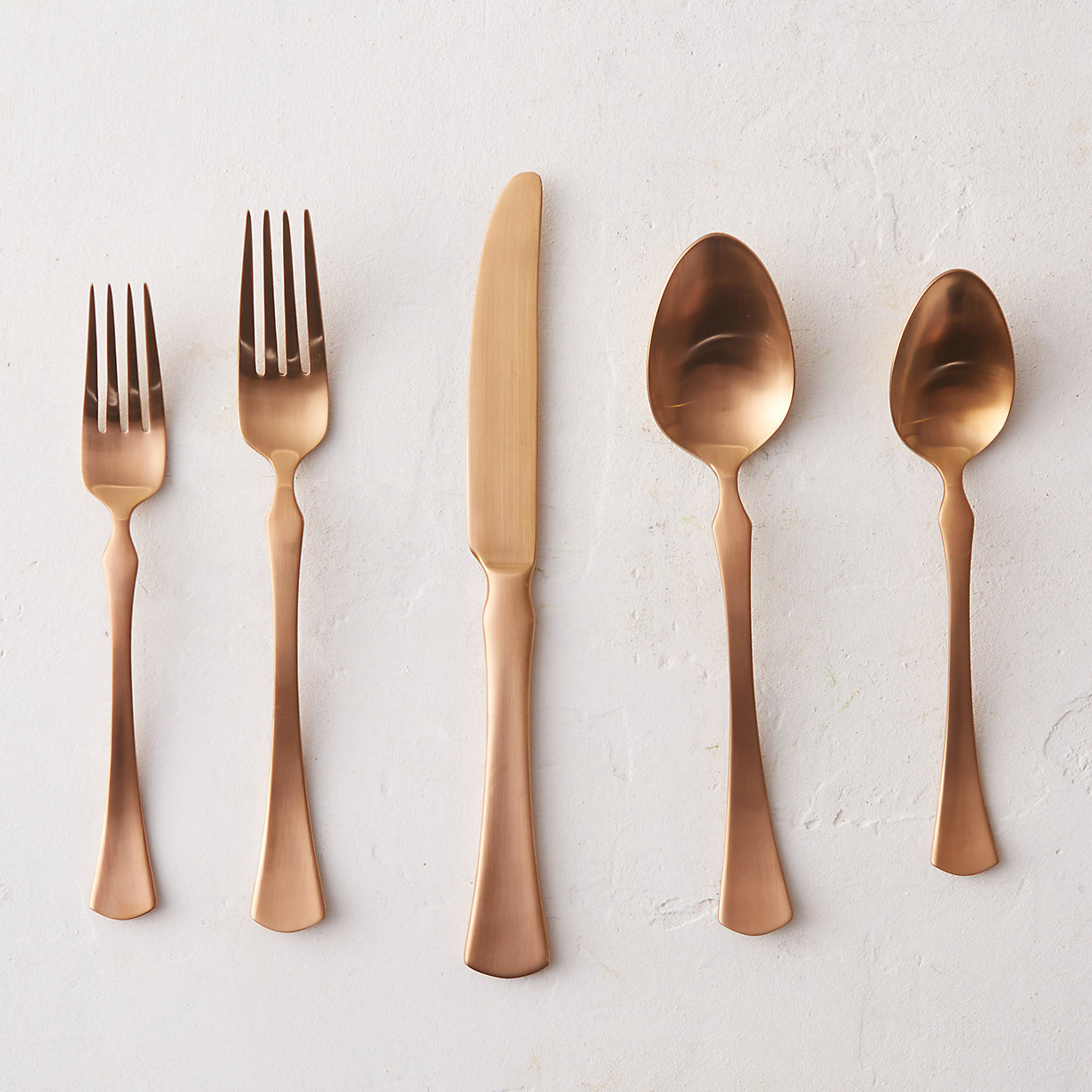 Copper silverware