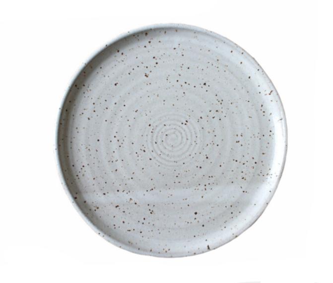 Earthware handmade dinner plates