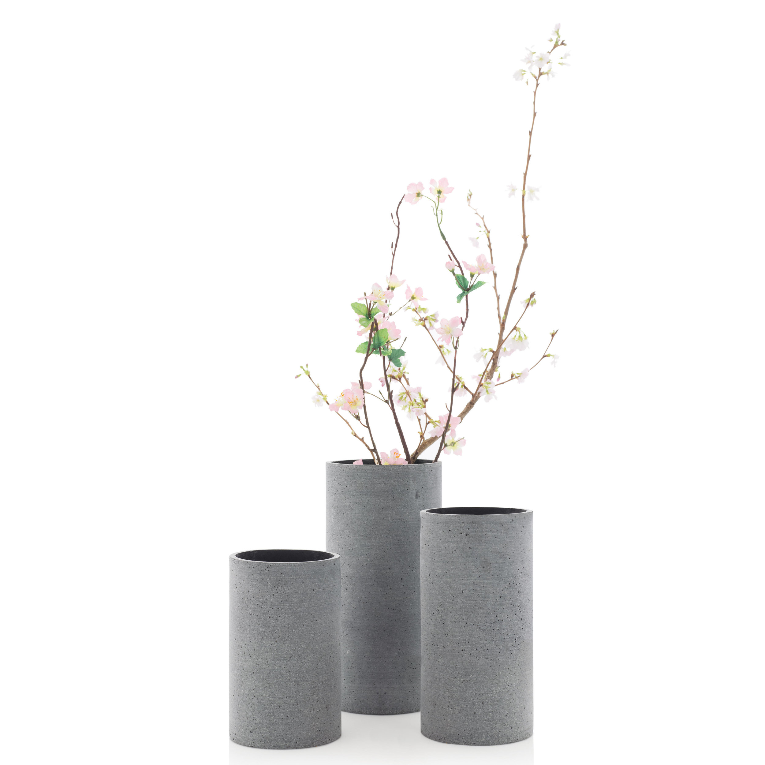 """Dark Gray Vase """"Coluna"""""""