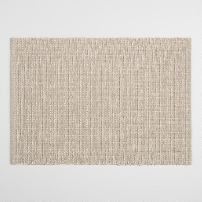 World Market Light Taupe Stripe Woven Placemats Set Of 4