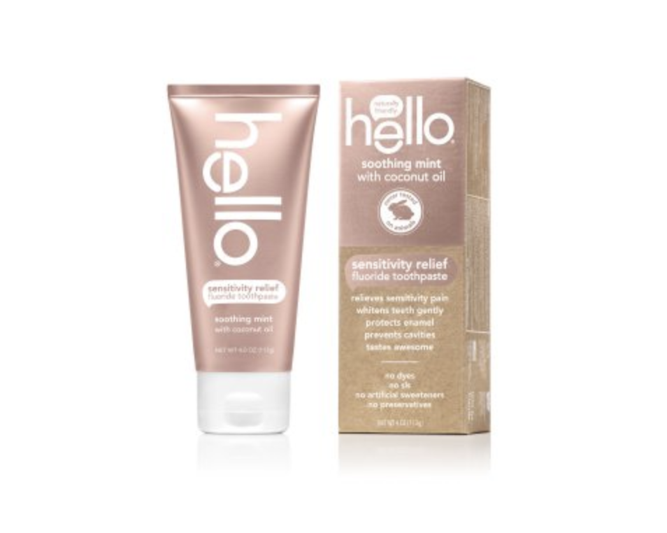 hello sensitivity relief fluoride soothing mint toothpaste
