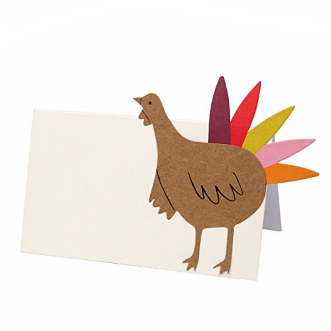 Meri Meri Be Thankful Turkey Place Cards 20-1278, Set of 10