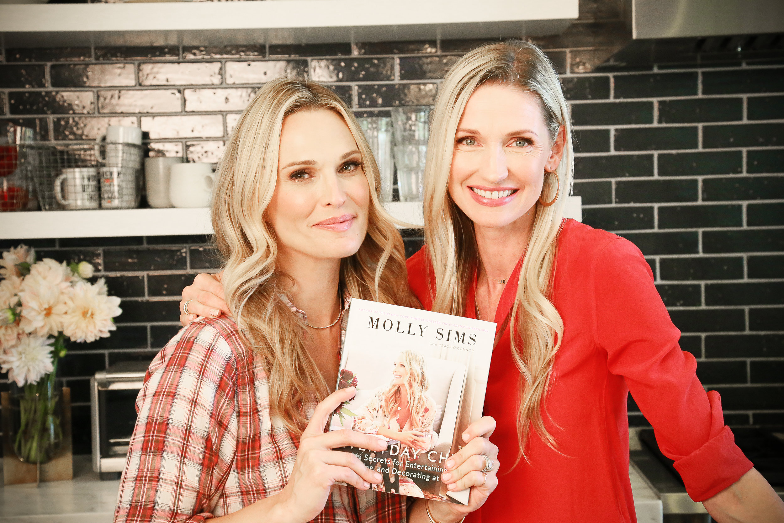 Molly Sims - Three Easy Dinner Hacks for Busy Mommas with Catherine McCord - photography by Erica Hampton