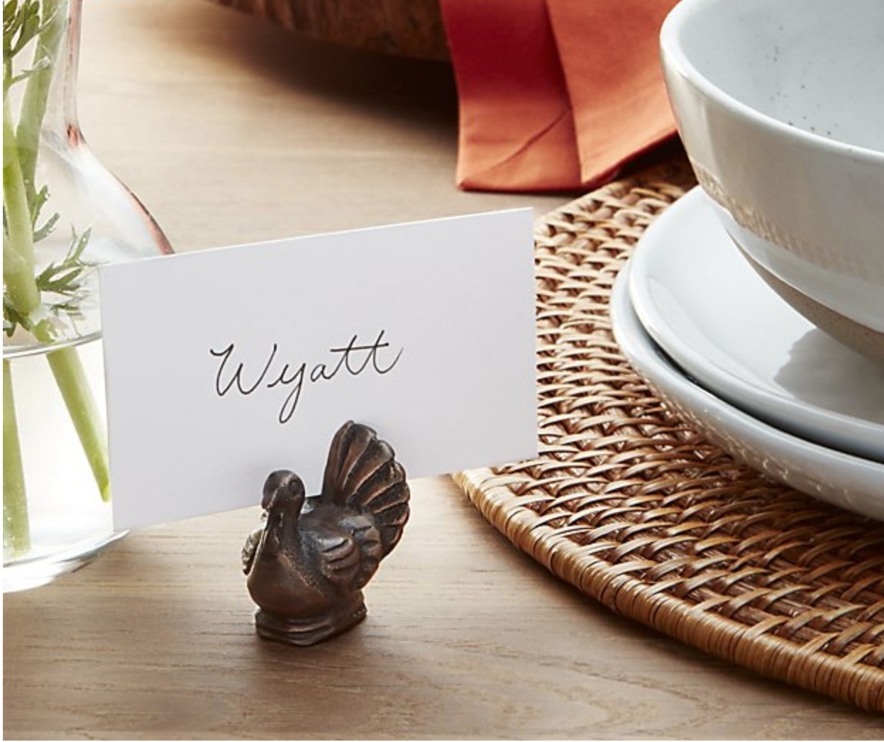 TURKEY PLACE CARD HOLDER