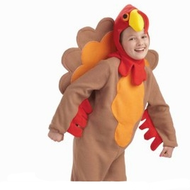 Child Fleece Turkey Costume Large 12-14