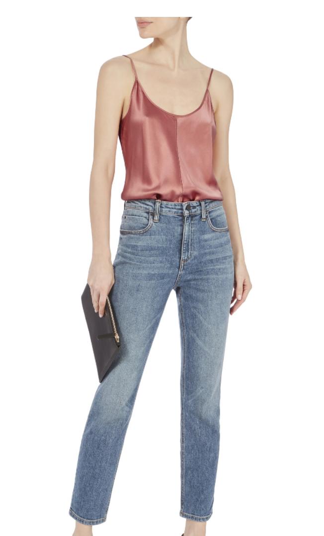 Intermix Images Silk Cami Rose Bodysuit