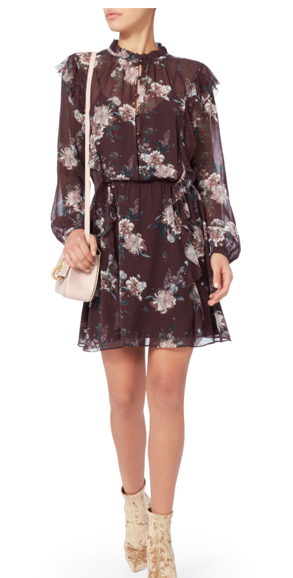 EXCLUSIVE FOR INTERMIX Madeline Printed Ruffle Mini Dress Details