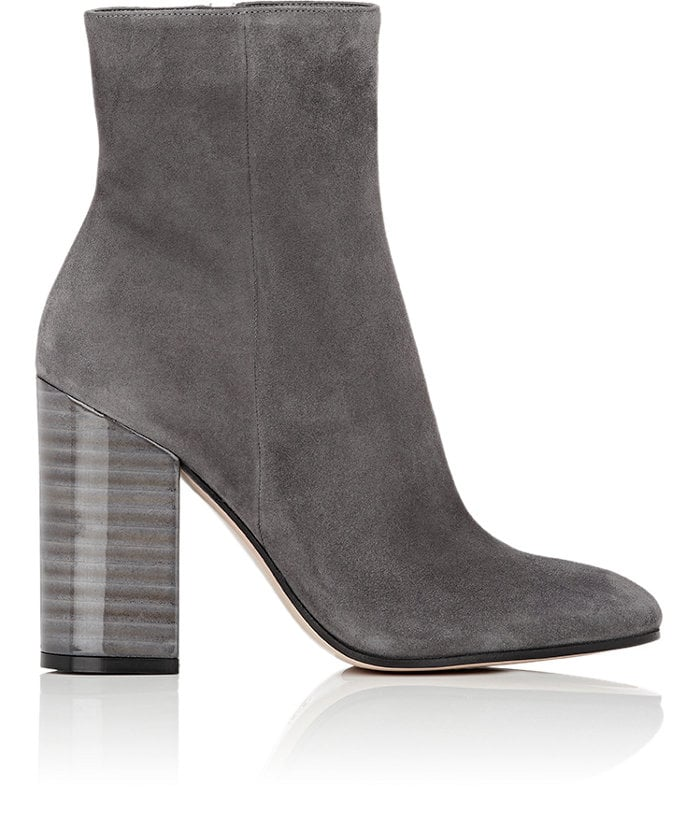 GIANVITO ROSSI Lacquered-Heel Ankle Boots