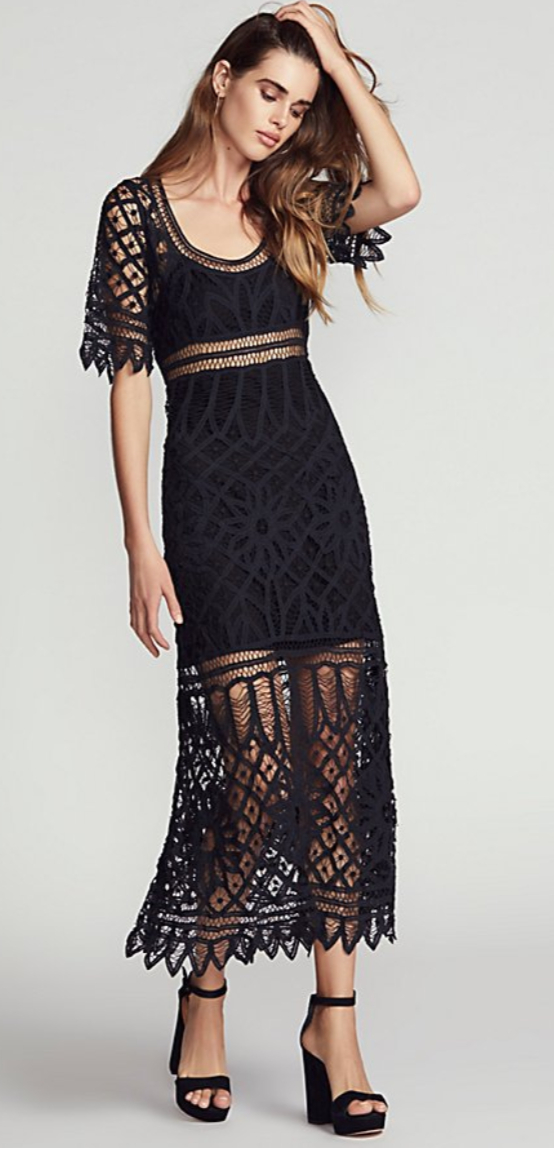 Tessa Macrame Maxi Dress