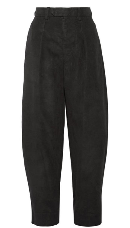 ISABEL MARANT - PETER VELVET WIDE-LEG PANTS - BLACK