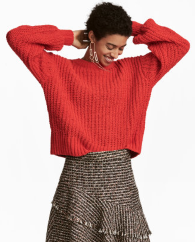 H&M H&M LOOSE-KNIT SWEATER $19.99
