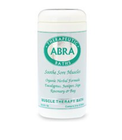 ABRA MUSCLE THERAPY SEA SALT BATH, EUCALYPTUS & ROSEMARY, 1 POUND