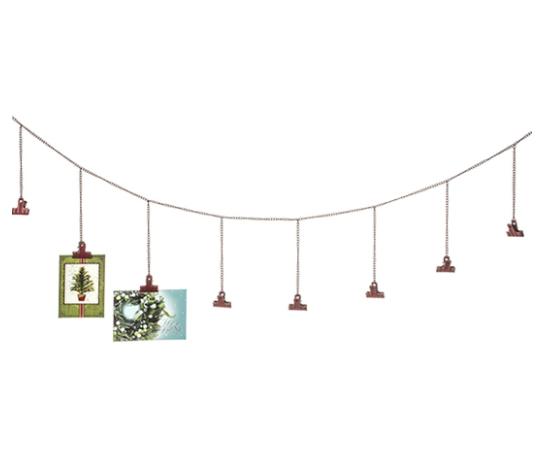Holiday Card Display Chain Decor