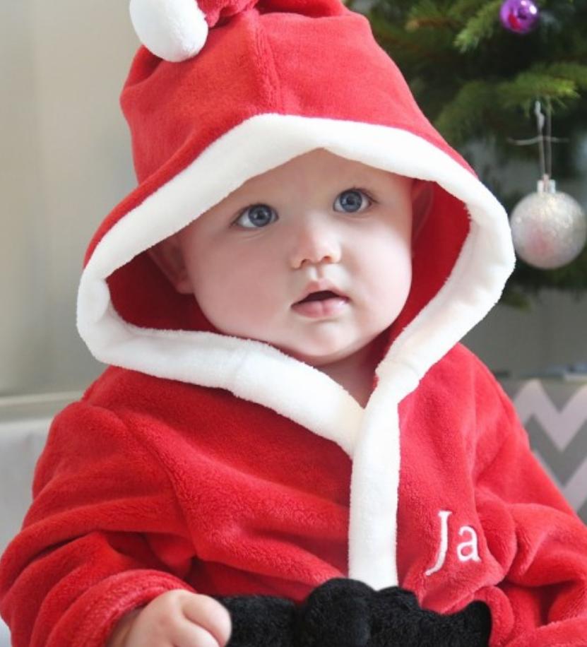 Boys Personalised Red Santa Robe