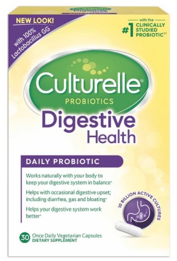 CULTURELLE ADULT DIGESTIVE HEALTH PROBIOTIC CAPSULES - 30CT