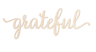 "GRATEFUL SCRIPT WORD WOOD SIGN, 12"" X 4"""