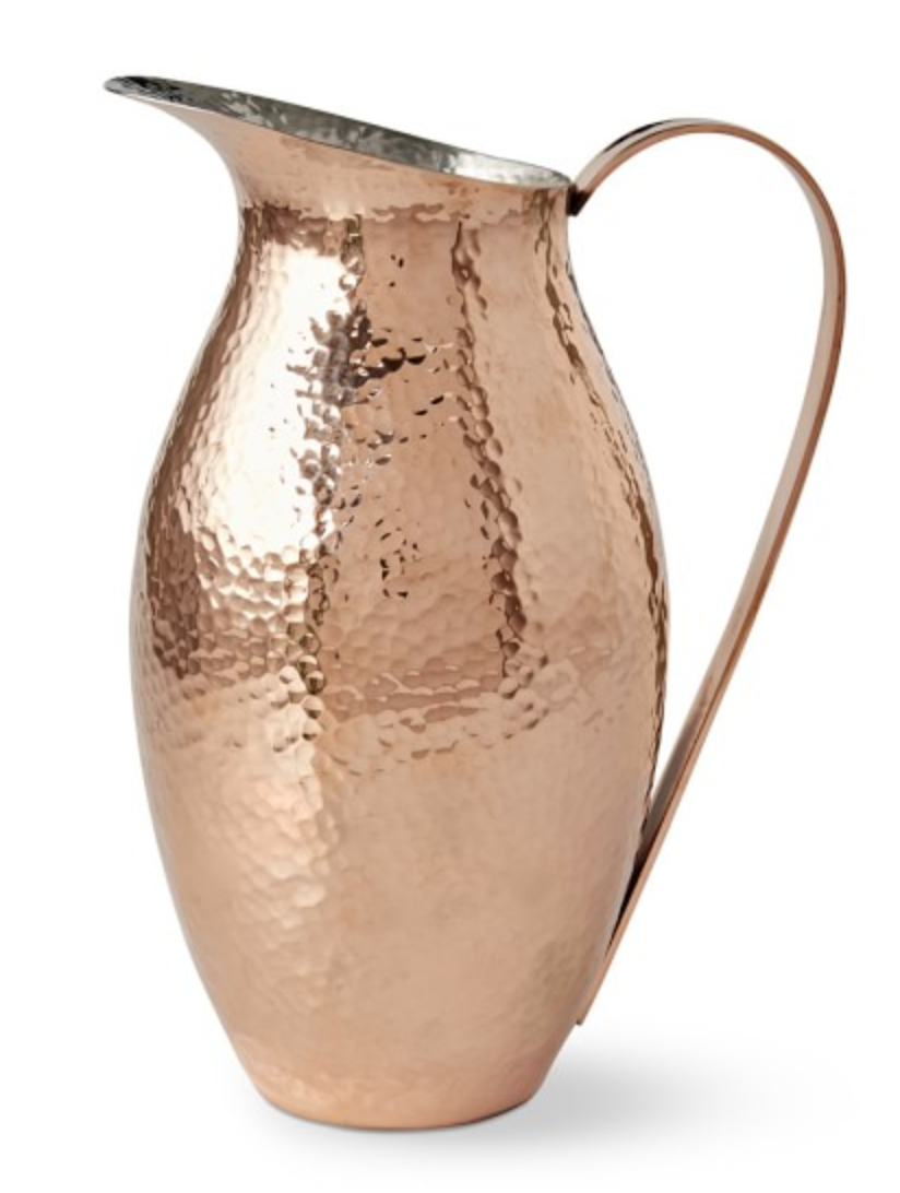 HAMMERED-COPPER PITCHER | WILLIAMS SONOMA