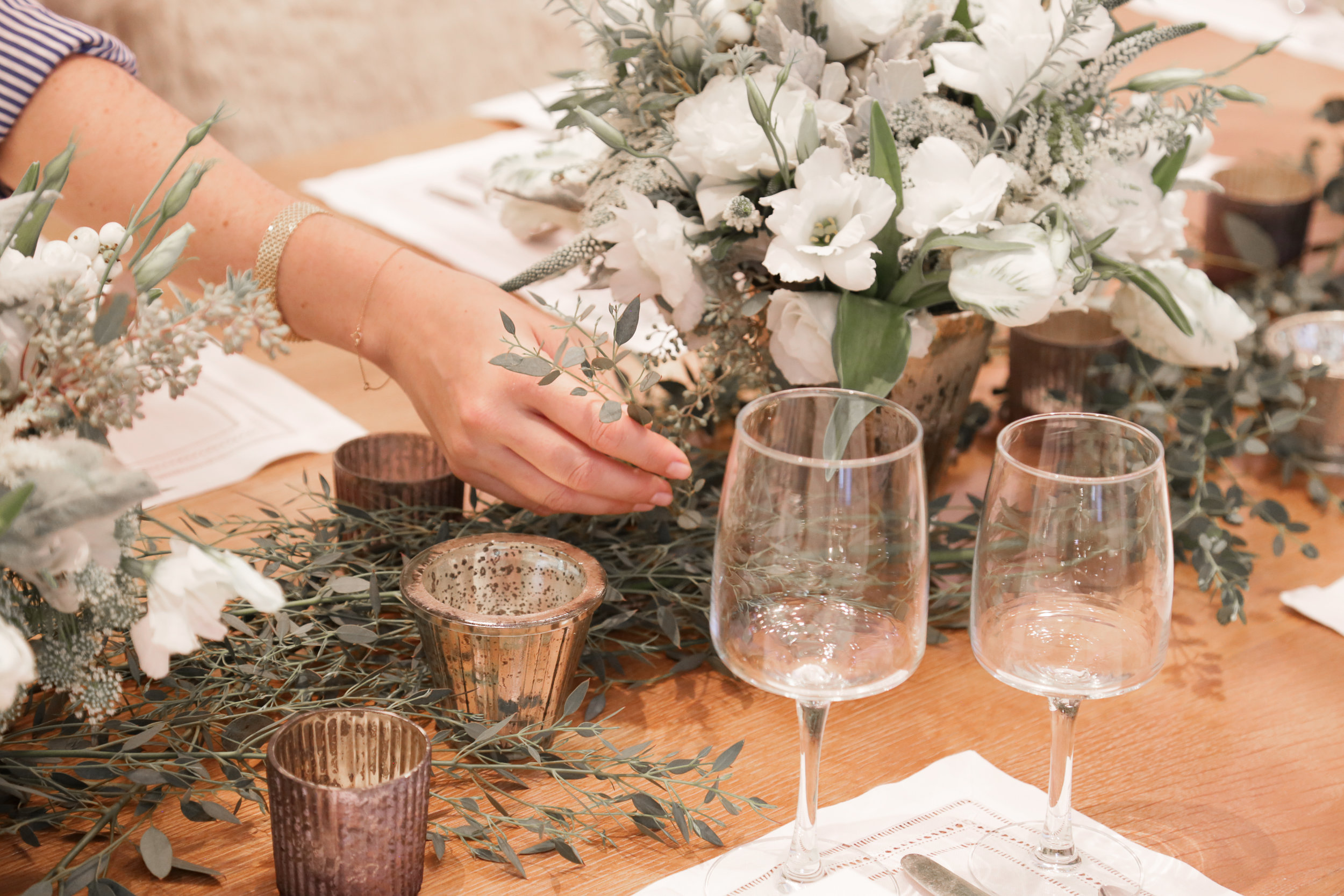A Winter Wonderland Tablescape With Mimi Brown Photography: Erica Hampton