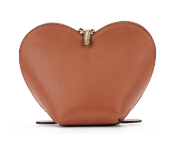 HEART COSMETICS CASE MINI ZIP AROUND WALLETLEATHER CHARMTOP-HANDLE BAG