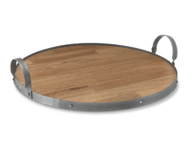 Cheese Board with Metal Handle