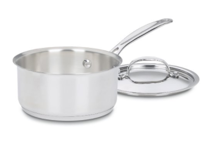 CUISINART 719-16 CHEF'S CLASSIC STAINLESS SAUCEPAN WITH COVER, 1 1/2 QUART