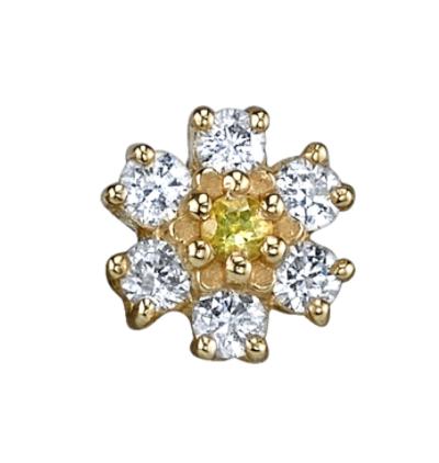 MINI DIAMOND FLOWER STUD