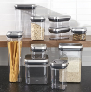 OXO ® STEEL POP CONTAINERS, SET OF 10