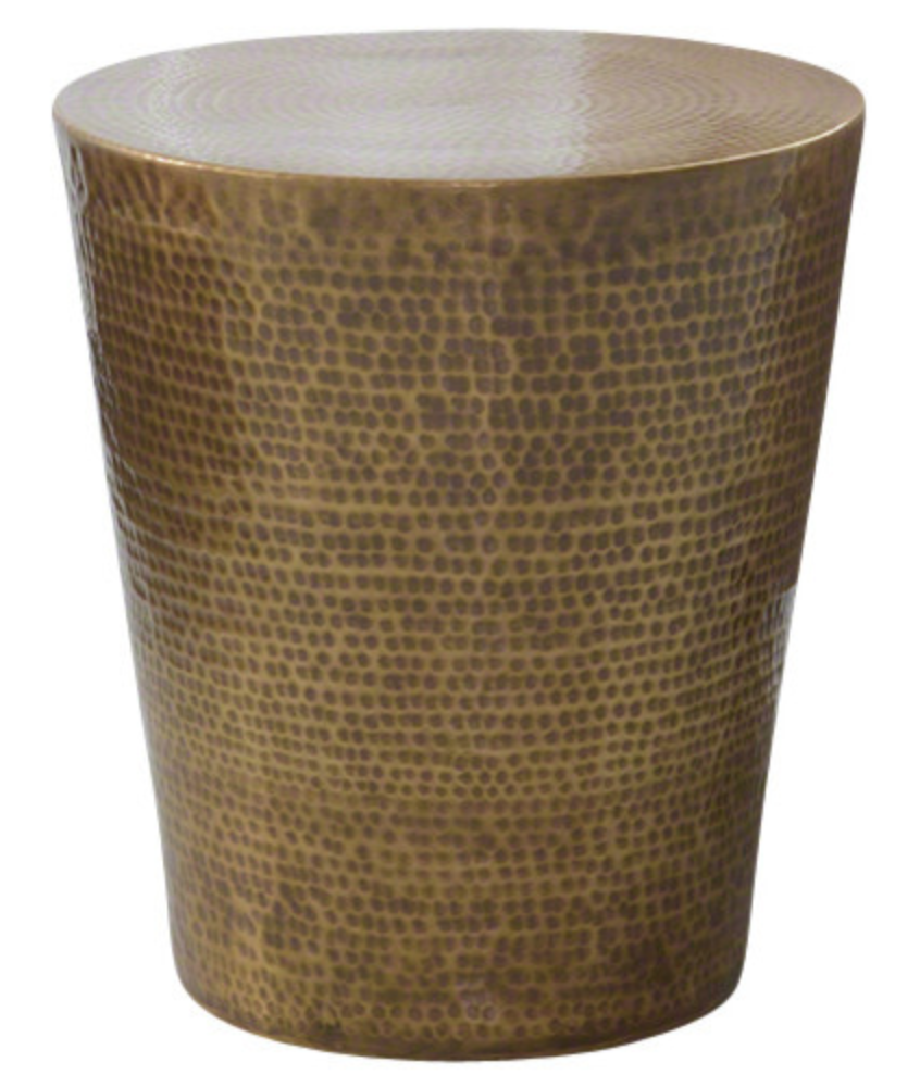 Studio A Izmir Hammered Brass Transitional Side Table X-36109.7