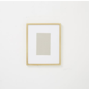 "GALLERY FRAME, POLISHED BRASS, 4"" X 6"" (8"" X 10"" WITHOUT MAT)"